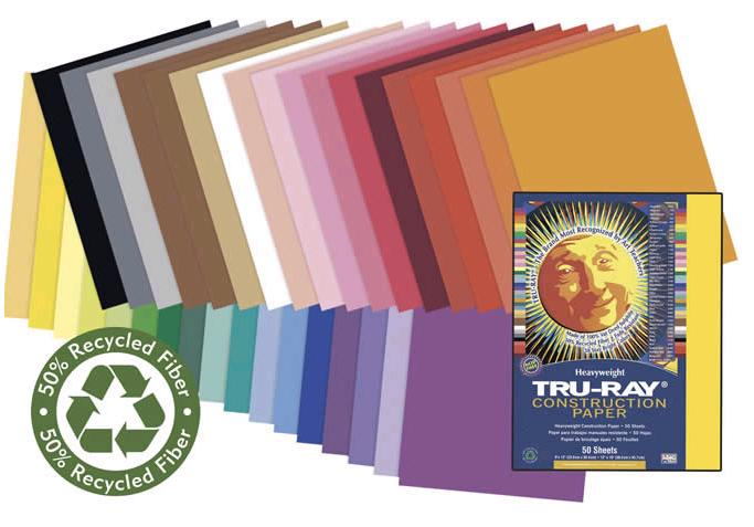 "Pacon 103095 Assorted Construction Paper (Fade Resistant) - 18"" x 24"""