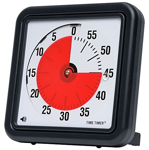 Time Timer TT08B-W 8 Inch Audible Classroom Timer