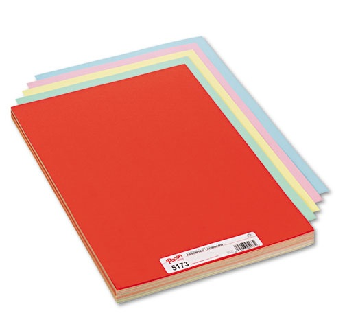 "Pacon 5173 Coloured Tag Board Assorted - 12"" x 18"""