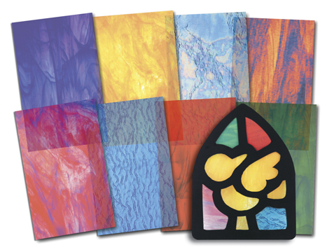 """Roylco 15257 Stained Glass Paper - 5.5"""" x 8.5"""""""