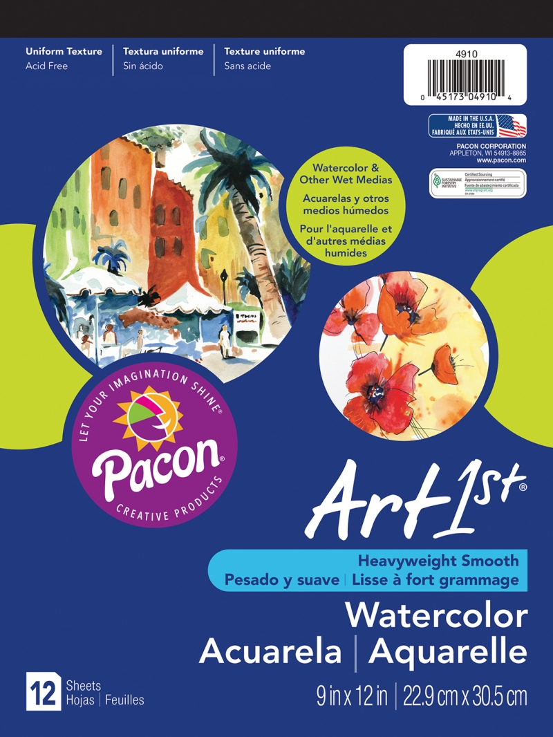 "Pacon 4911 Water Colour Paper Pad - 11"" x 14"""
