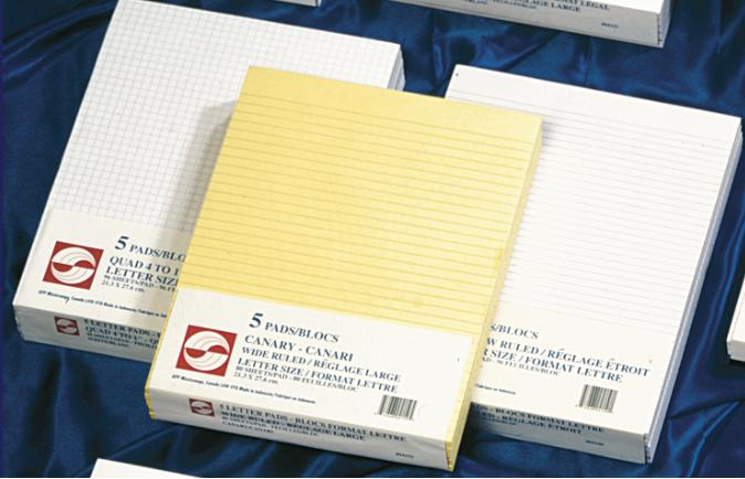 """Figuring Pad White Ruled Wide - 8.5""""x11"""" - 96 sheets - 04147"""