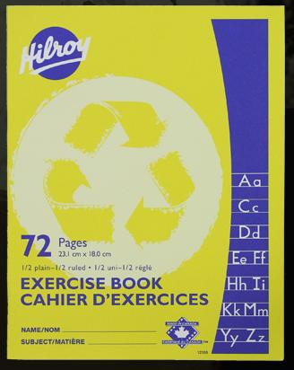 "Hilroy 12150 Exercise Books 1/2 Ruled (72pgs) - 7"" x 9"""