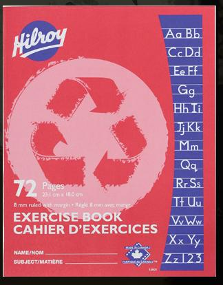 "Hilroy 12901 Exercise Books Wide Ruled (72pgs) - 7"" x 9"""