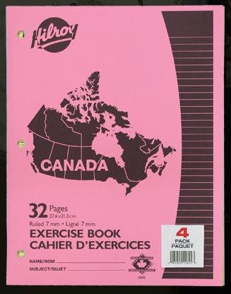 "Hilroy 12692 Exercise Books (32pgs) - 8.5"" x 11""  4pk"