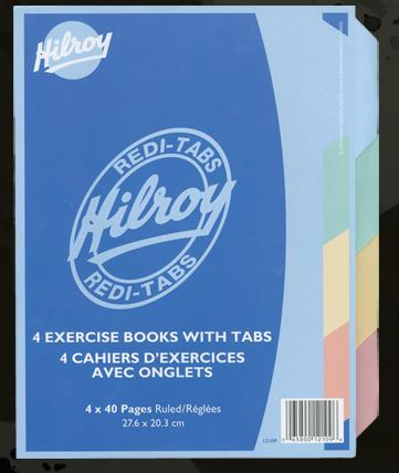 "Hilroy 12109 Exercise Books Key Tab (40pgs) - 8.5"" x 11"""