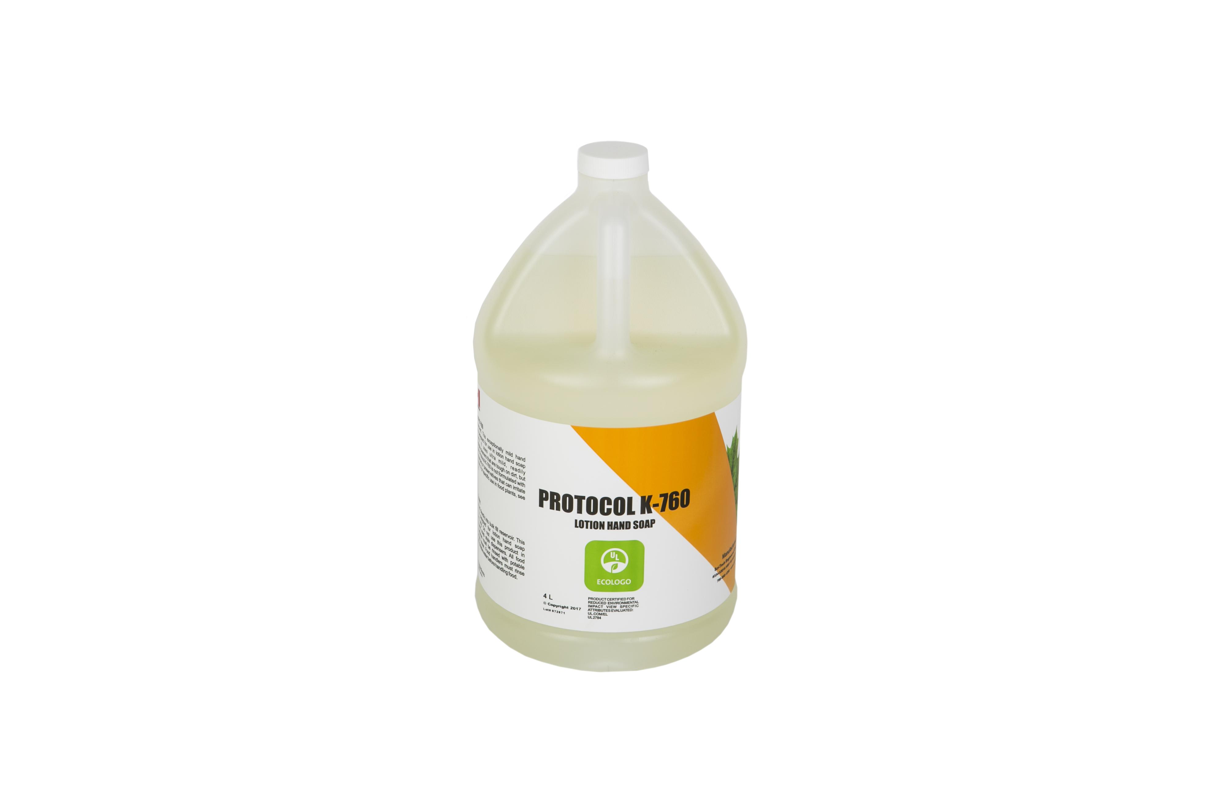 Protocol K760 UL Eco Certified Lotion Hand Soap - 4 Litre