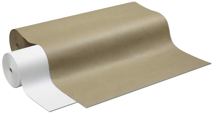 "1305 224 White Drug Wrapping Roll (40lb) - 24"" x 1000'"
