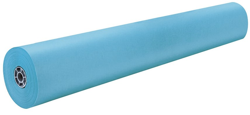 "Pacon 63150 Sky Blue Rainbow Kraft Roll - 36"" x 1000'"