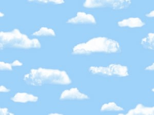 """Pacon 56465 Fadeless Paper Rolls Clouds - 48"""" x 50'"""