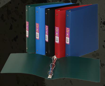 """Hilroy 24602 Poly Binder Assorted Colours - 1"""""""