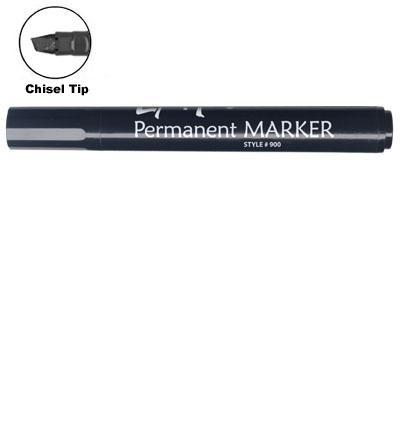 LiquiMark 91201 Permanent Markers Black - Chisel Tip