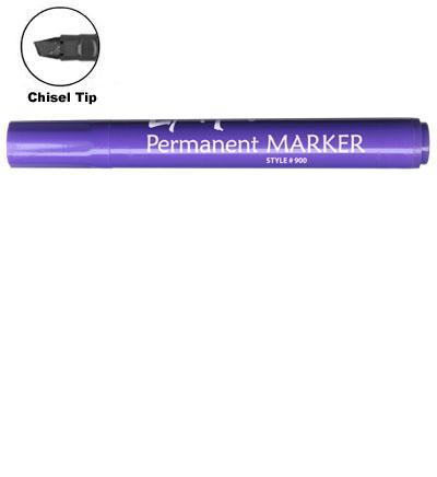 LiquiMark 91206 Permanent Markers Purple - Chisel Tip