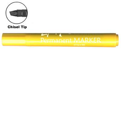 LiquiMark 91208 Permanent Markers Yellow - Chisel Tip