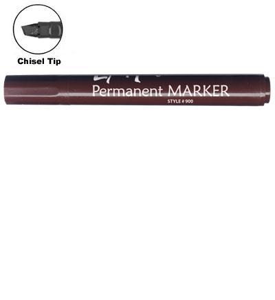 LiquiMark 91202 Permanent Markers Brown - Chisel Tip