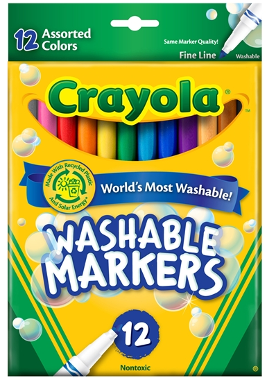 Crayola 568524 Washable Markers - Thin Tip - 24/pack