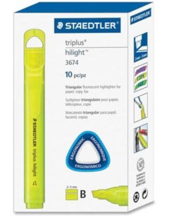 Staedtler Triplus Highlighter Yellow - Box of 10