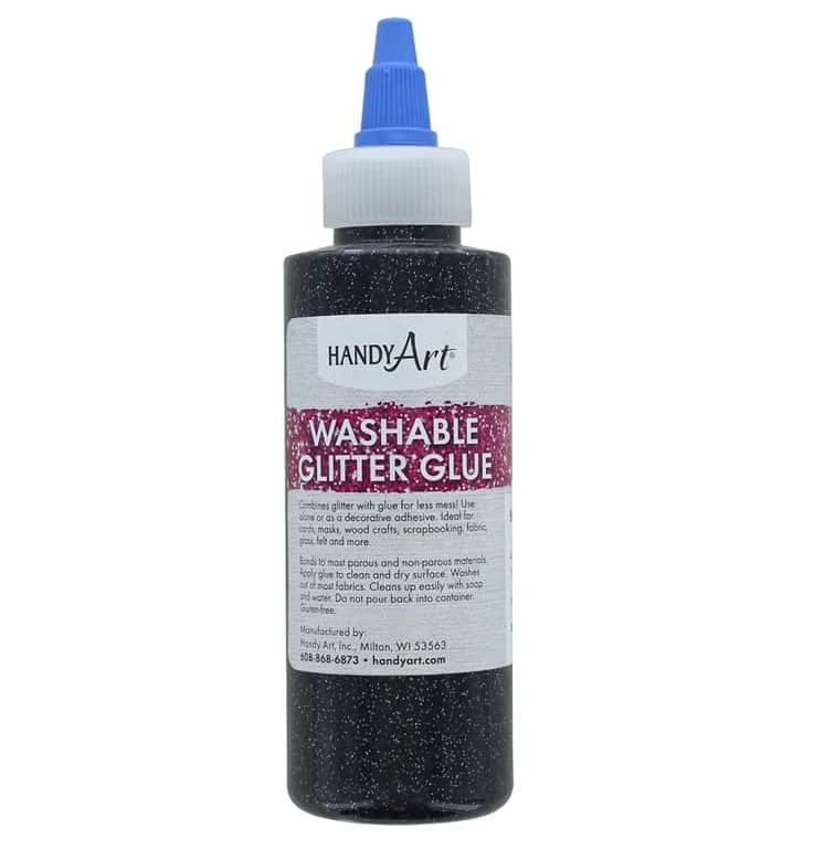 Handy Art 144-055 Glitter Glue Black - 4 oz