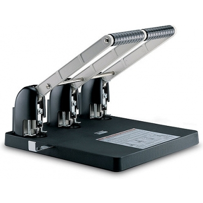 KW trio 938C Metal Power Paper Punch (100 Sheets) - 3 Hole