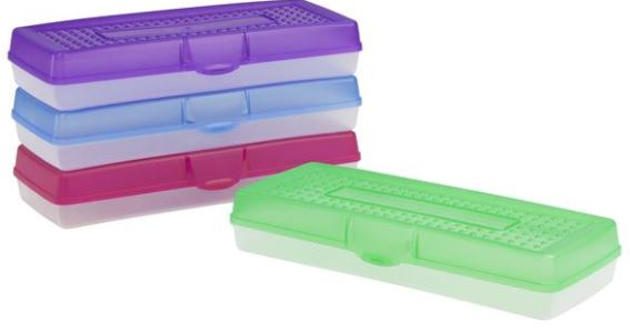 School Source 61620U12C Extra Long Plastic Pencil Box