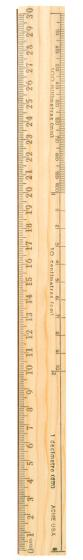 Rulers Office Metal Edge Wooden R511 - 30cm - Each - 18930