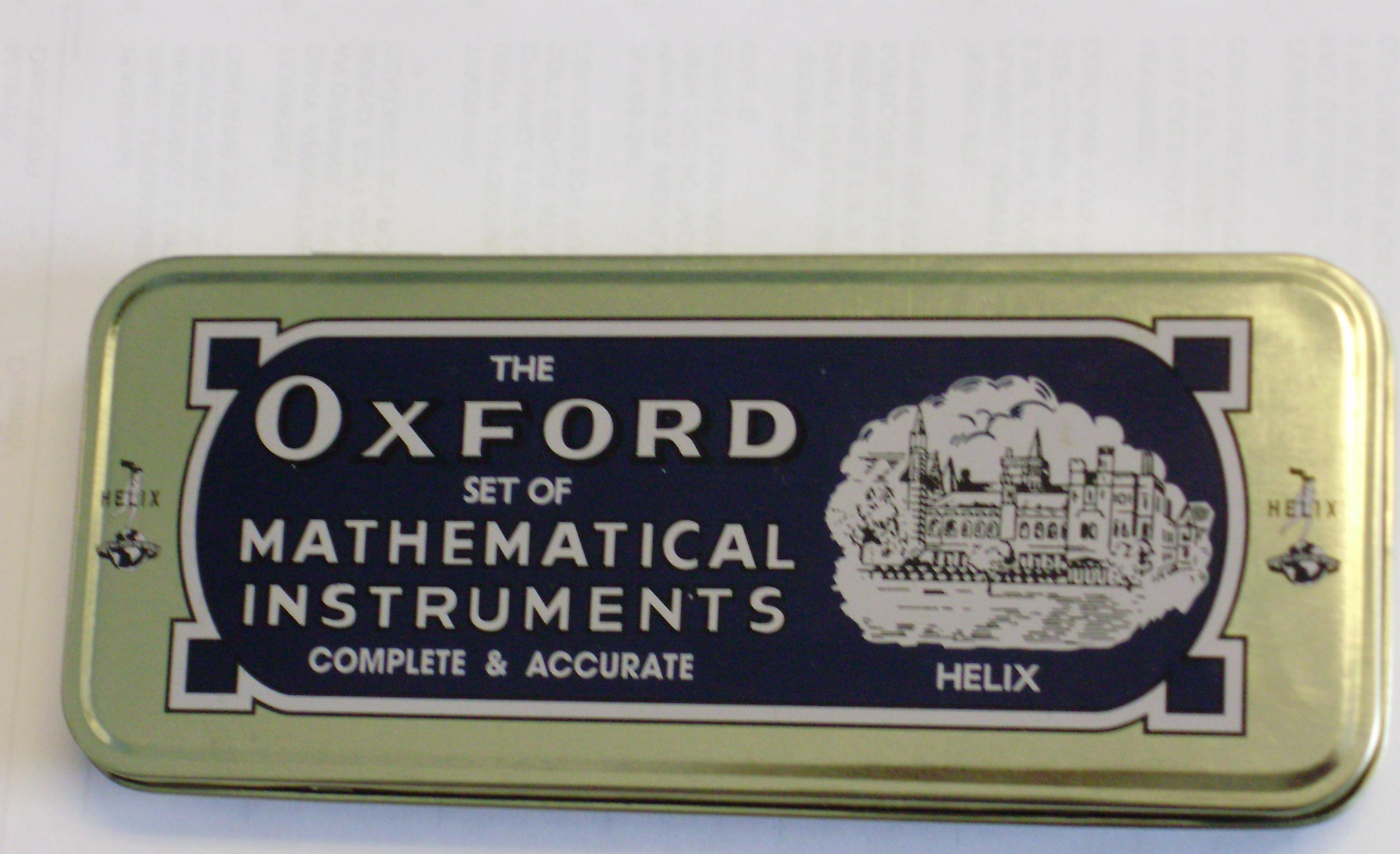 Geometry Set Oxford - 12pcs/set - Each - 124006
