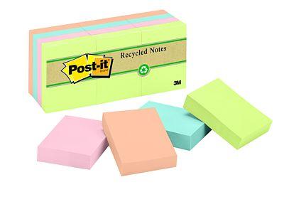 "3M Premium Post-it Assorted - 1.5""x2"" - 12/pkg - 653-RP-A"