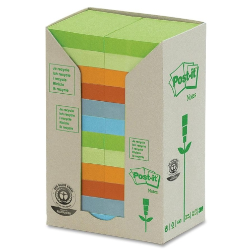 3M Post-it Recycled - 1.5''x2'' - Each - 653IRPT