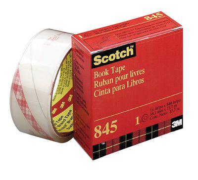 "3M Scotch Transparent Book Binding Tape 1.5""- 38.1mm x13.7m - Each -  #845"