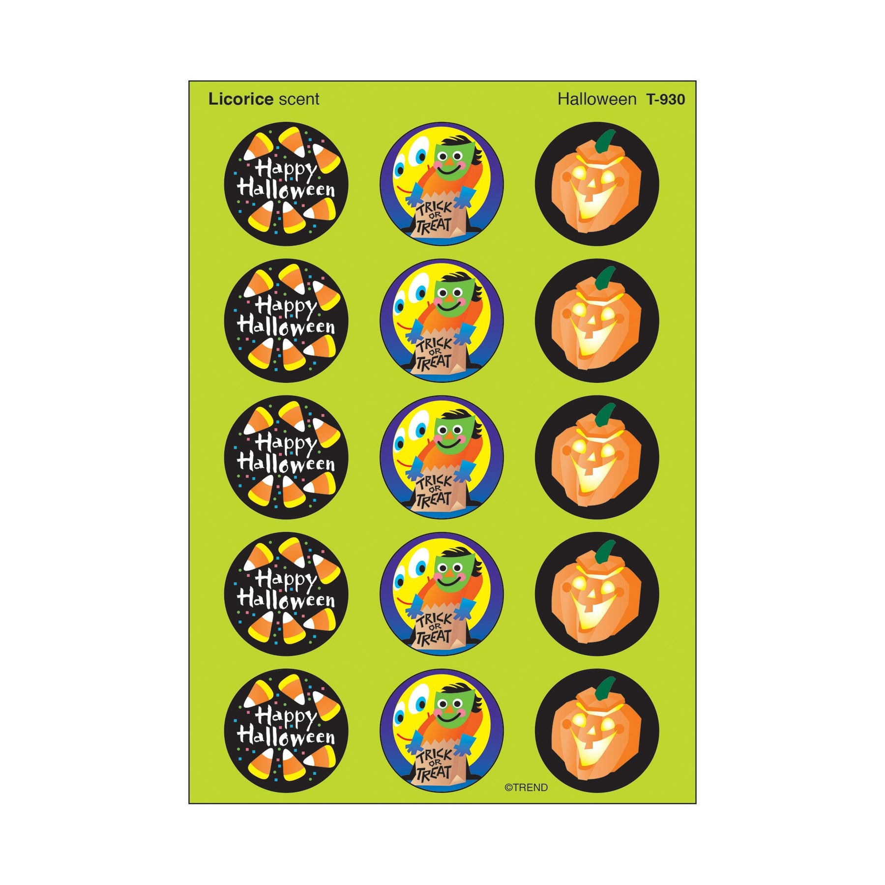 Trend T930 Scratch and Sniff Stickers Halloween (Licorice)