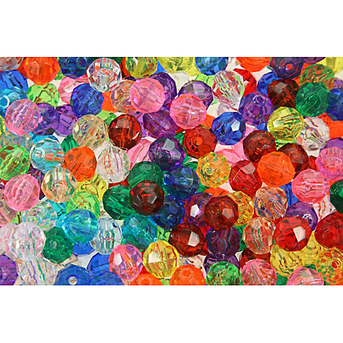 The Beadery 711V029 Facet Beads #711V Assorted Colours - 10mm