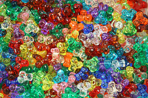 The Beadery 825V029 Tri Beads #825V Assorted Colours - 11mm
