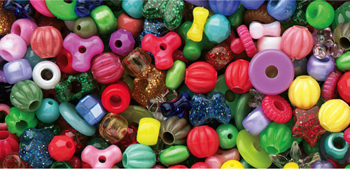 The Beadery B100SV Mixed Beads #B100S - Assorted Colours & Sizes