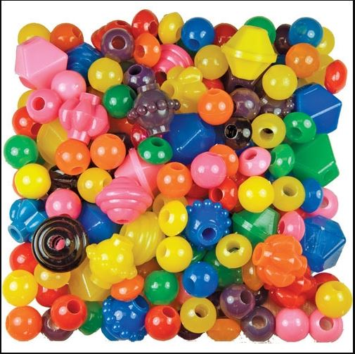 Roylco 2170 Brilliant Beads Assorted - Large