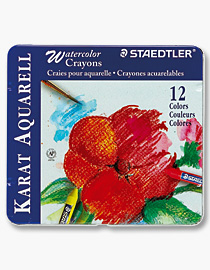 Staedtler 223M12 Water Crayons - Metal Box