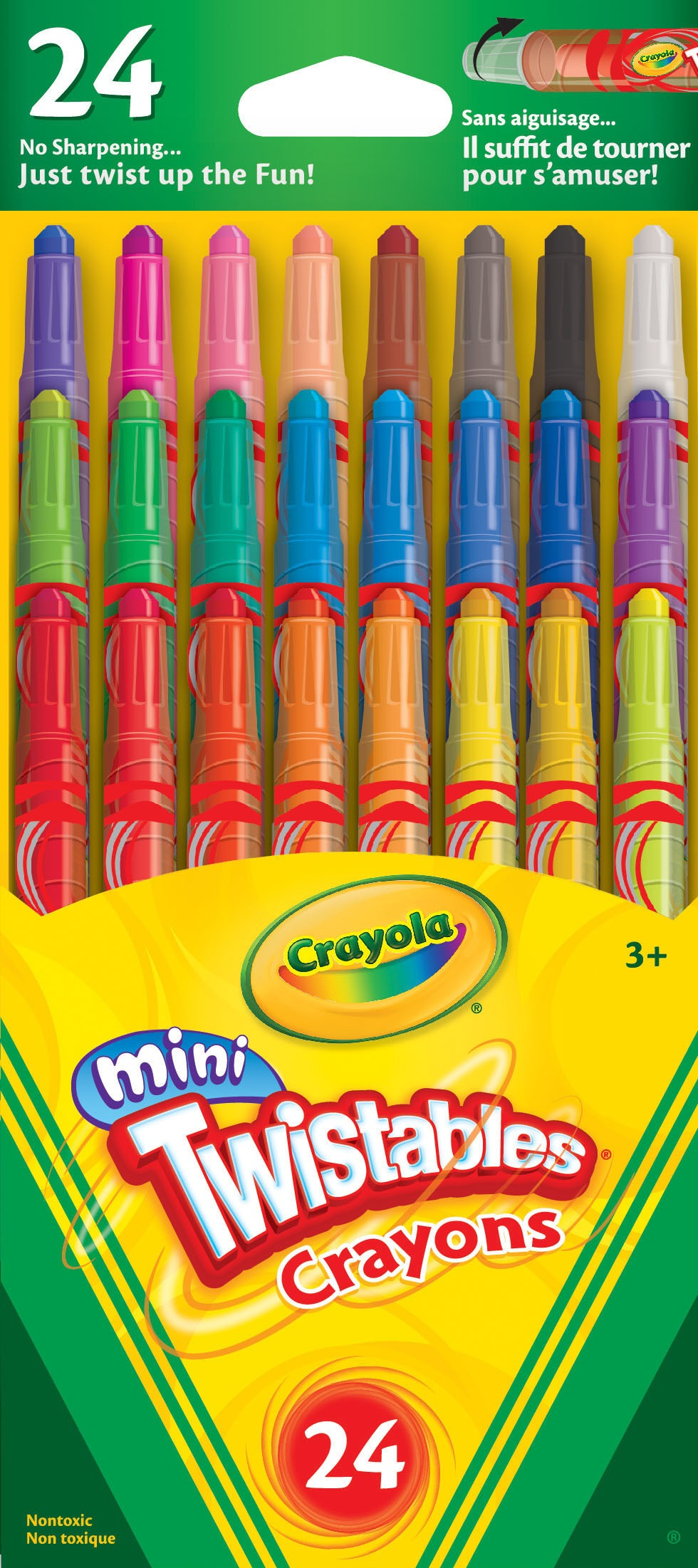 Crayola 529724 Mini Twistable Crayons - 24/pack