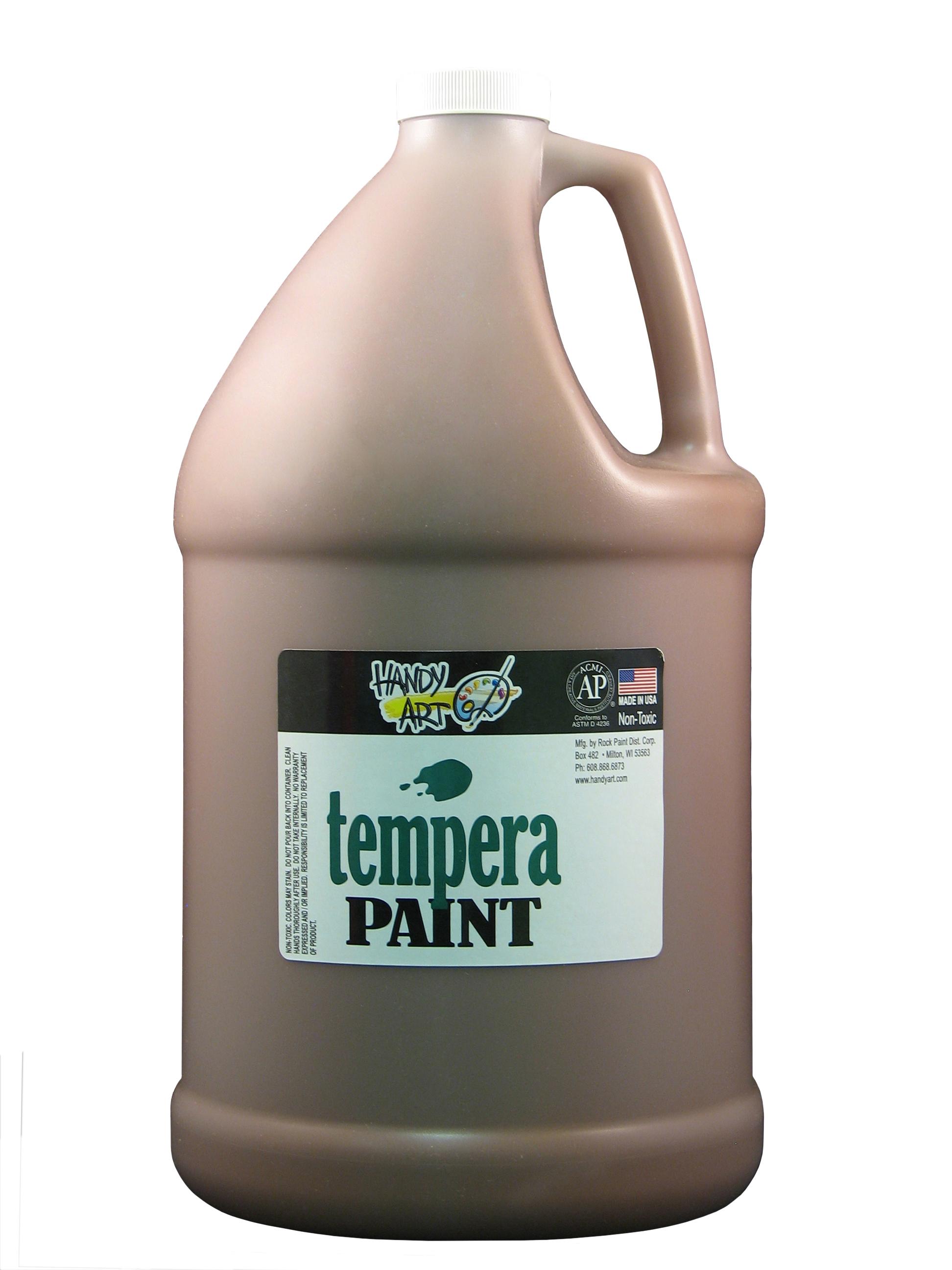 Handy Art 204050 Premium Tempera Paint Brown - 1 Gallon