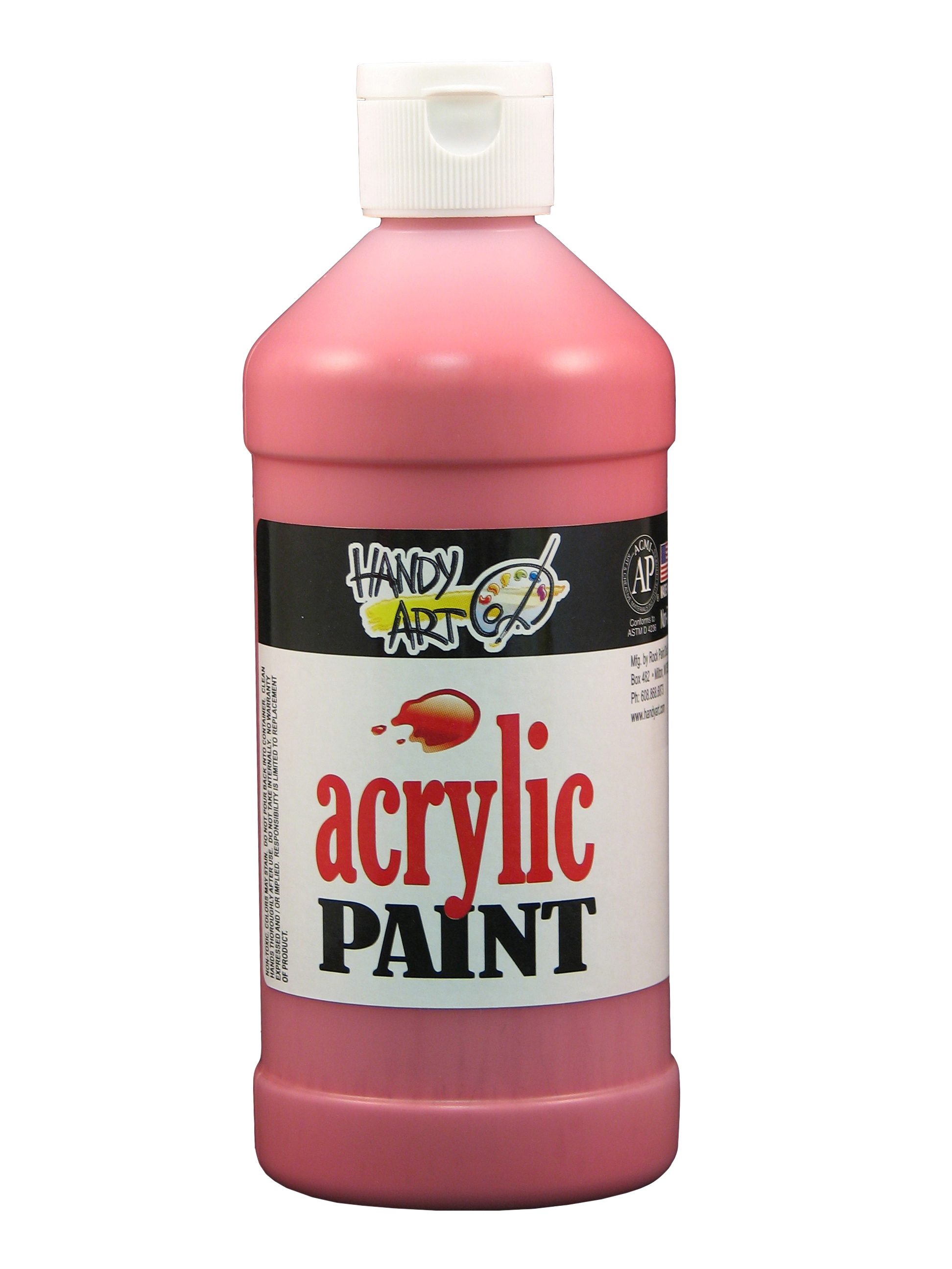 Handy Art 101040 Acrylic Paint Red - 16oz