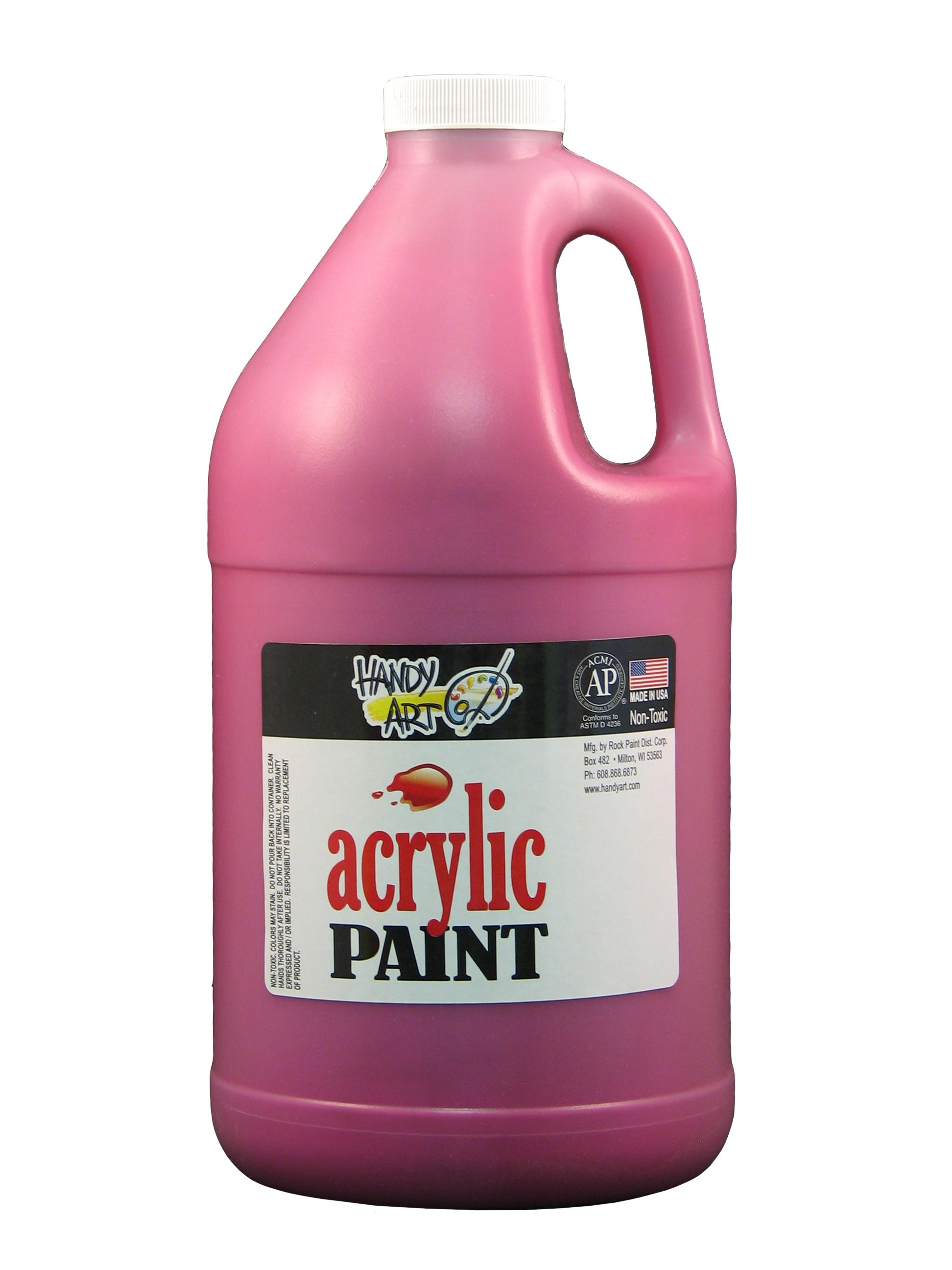 Handy Art 102070 Acrylic Paint Magenta - 1/2 Gallon