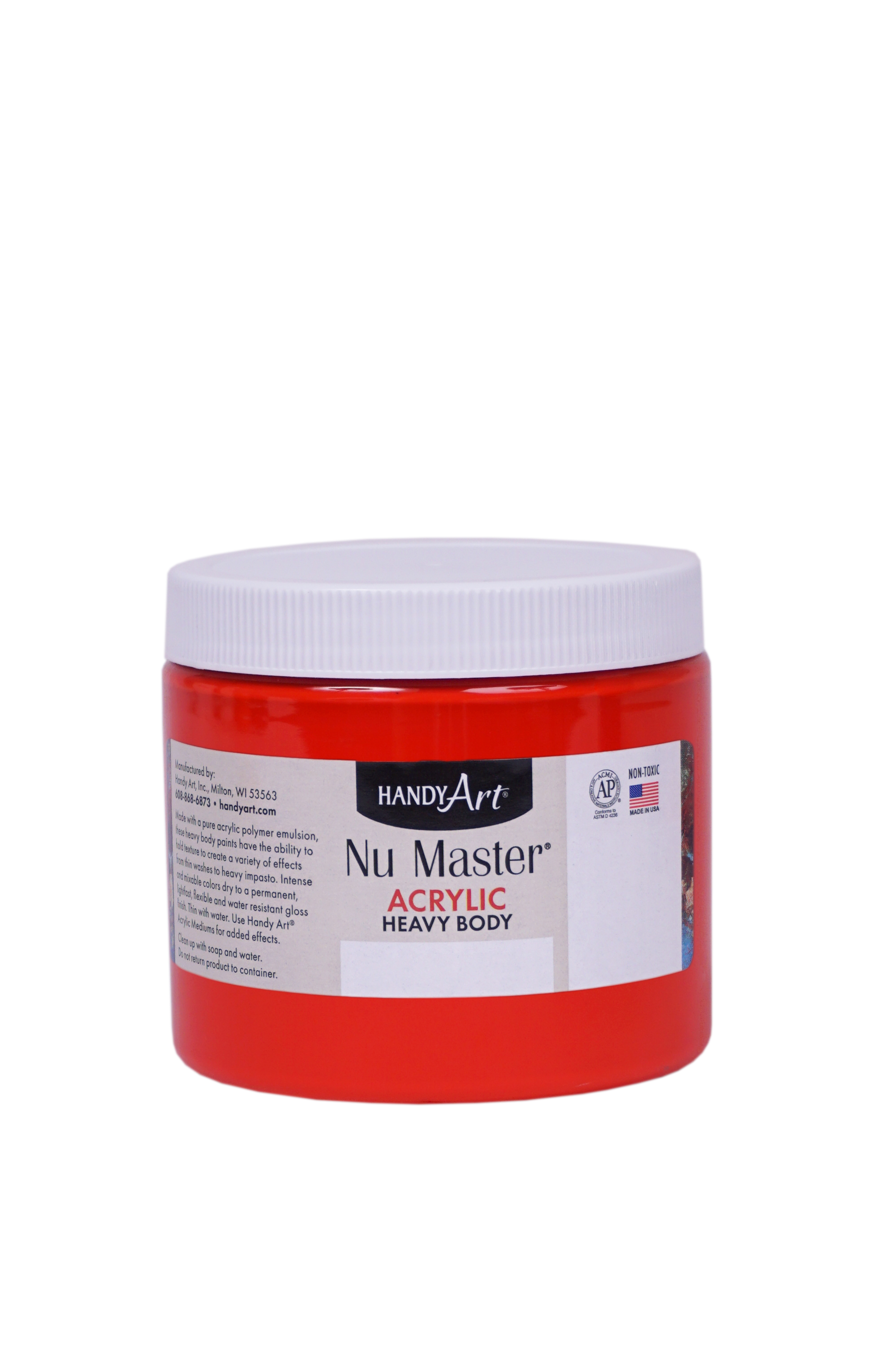 Handy Art 701040 Nu Master Heavy Body Acrylic Bright Red- 16 oz