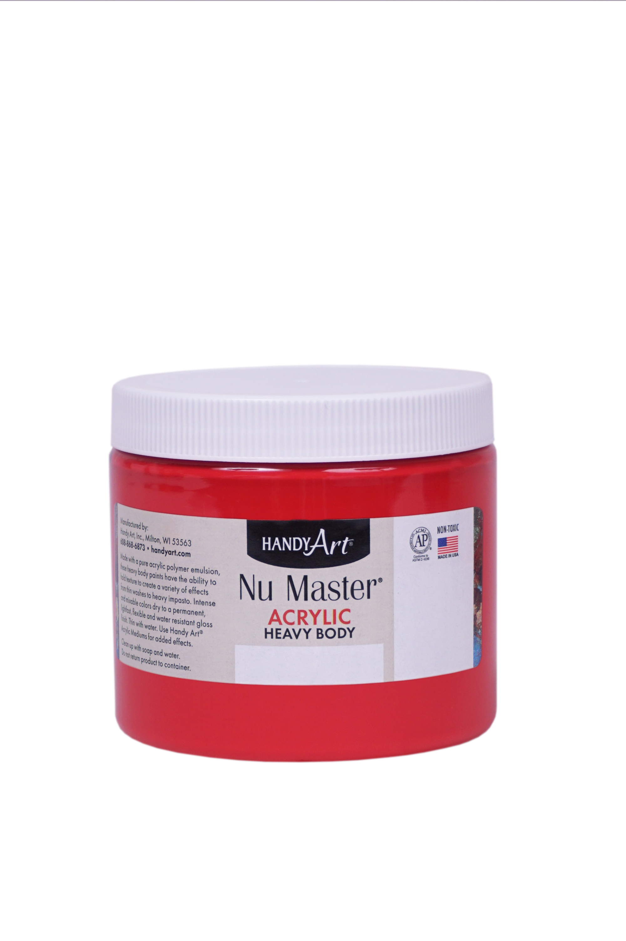 Handy Art 701120 Nu Master Heavy Body Acrylic Primary Magenta- 16 oz