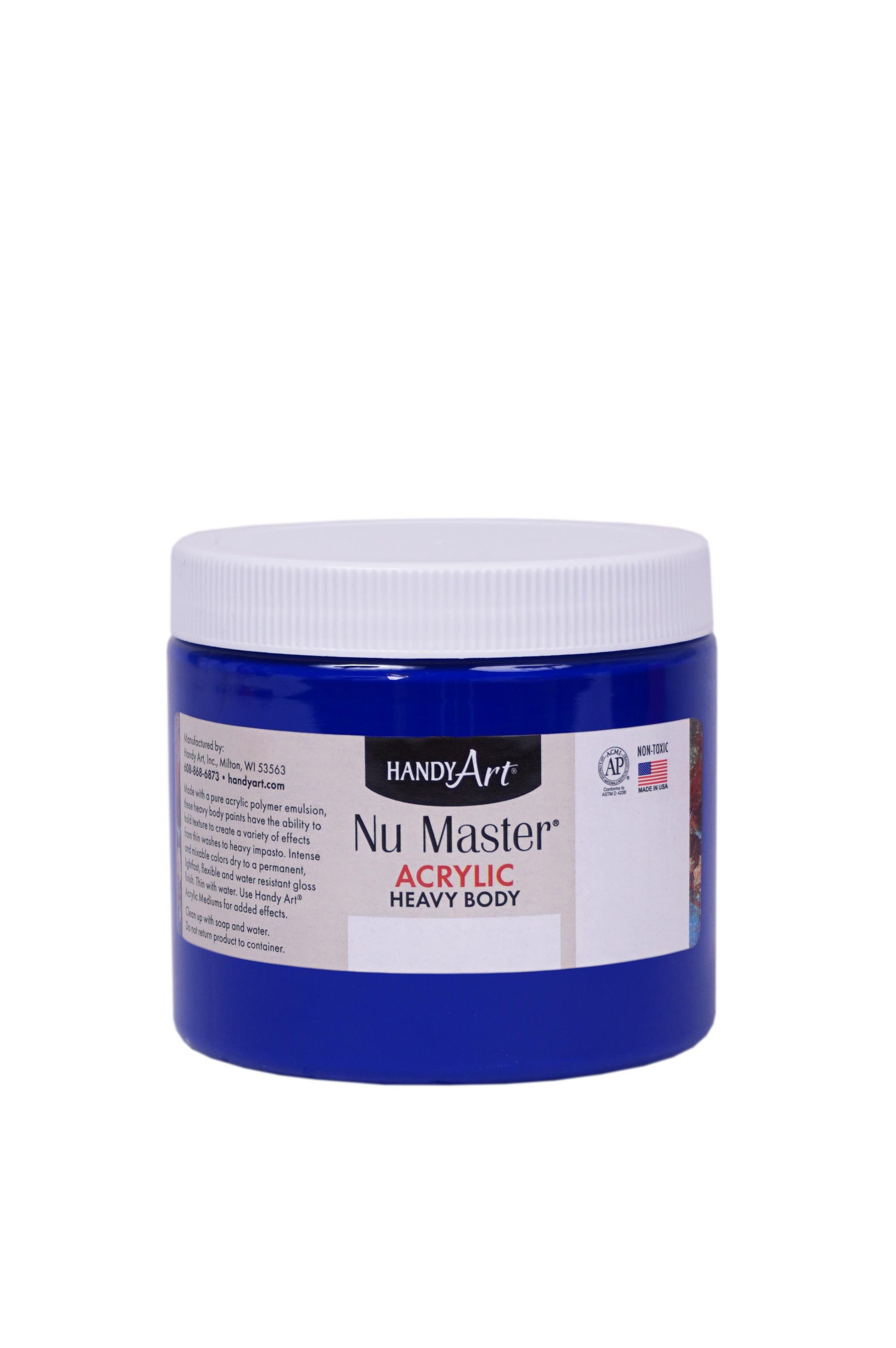 Handy Art 701065 Nu Master Heavy Body Acrylic Ultramarine Blue- 16 oz