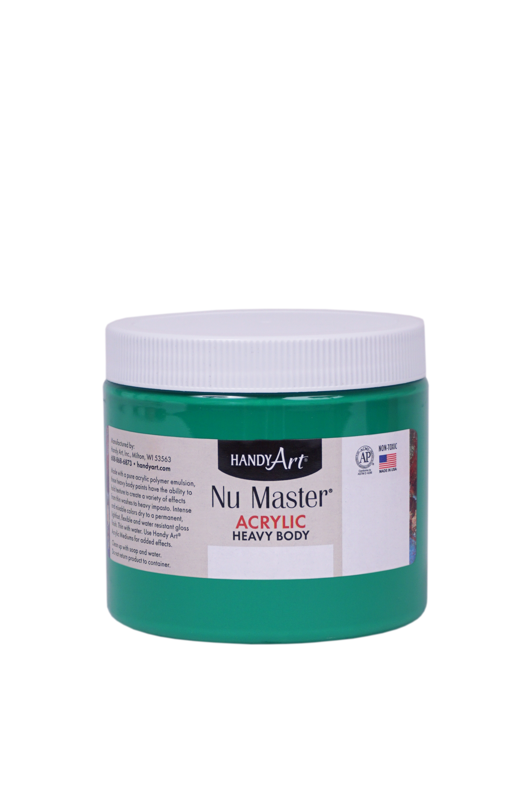 Handy Art 701058 Nu Master Heavy Body Acrylic Light Green- 16 oz