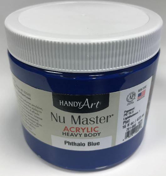 Handy Art 701060 Nu Master Heavy Body Acrylic Phthalo Blue-16 oz