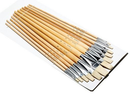 School Source 74109 Brushes Eterna China Poster #579 Long Handle Flat - #9