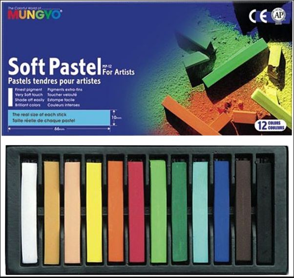 Mungyo MP12 Chalk Pastels Premium Soft