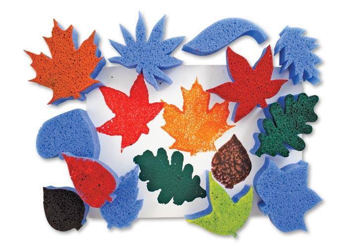 Roylco Paint Sponges - Leaves