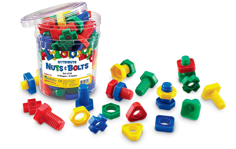 E187 Large Plastic Bolts & Screws Set