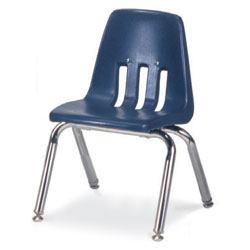 """Stacking Metal Frame Chairs Navy - 14"""" - Each"""