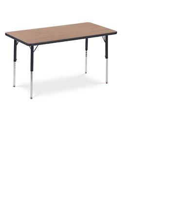 Table, Metal Frames, Adjustable Rect. #4812 - 2x4 -